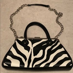 Isaac Mizrahi zebra print bag
